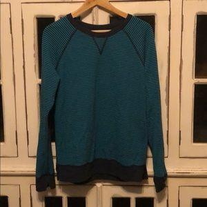 lululemon athletica Tops - Reversible Lululemon Sweatshirt - Navy & Turquoise